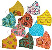 JaipurChoice 100% Cotton Reusable Mask Printed 2 Layer Face Mask/Anti-Pollution Mask/Safety Mask (Multicolor)