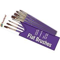 Humbrol- Flat Brush Pack Lot de pinceaux, AG4305, Multicolore