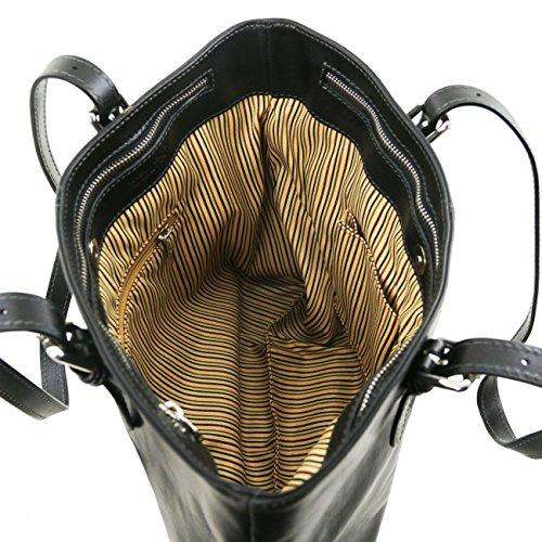 Tuscany Leather Annalisa - Borsa shopping in pelle con due manici Rosso Borse donna a tracolla Testa di Moro