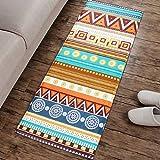 San Bodhi® Boho Geometrische Print Flanell lang Wohnzimmer Schlafzimmer Couchtisch Teppich, Flanell, Multi, Large