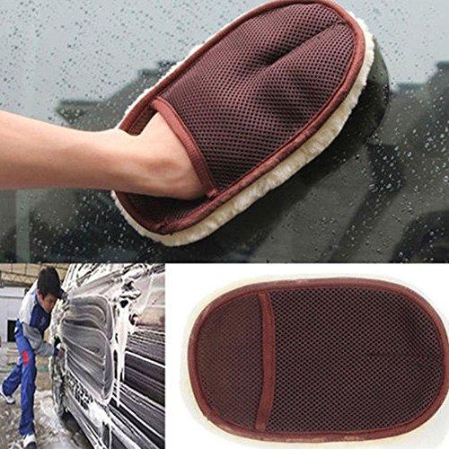 JSHSTGB Ultra Soft Home Handschuhe Lamm Hochflor Waschhandschuh Auto Reinigung Polieren Handschuhe Waschen Waschen Wischen Reinigung Handschuh Praktische Werkzeuge
