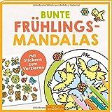 Bunte Frühlings-Mandalas: mit Stickern zum Verzieren