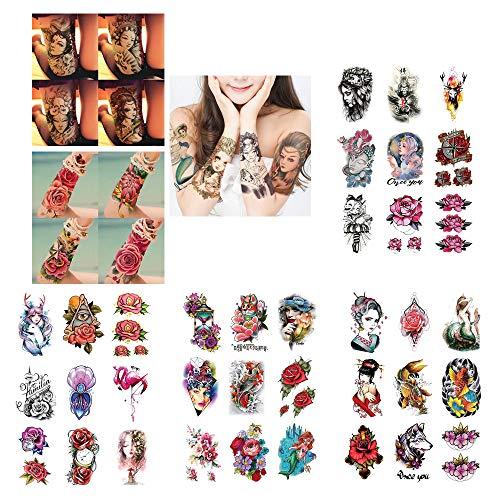 @Y.T Tattoo Applique Arm Tattoo Aufkleber Farbe Tattoo Aufkleber wasserdicht Tattoo Aufkleber (36 Fotos)
