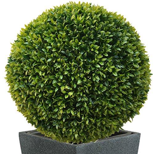 TLC 2 x 50 cm Ø künstliche Buchsbaumkugel, Spar – Set, EDEL LIGUSTER – sehr natürlich wirkend