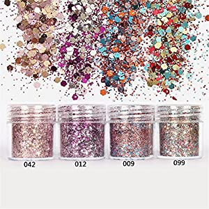 Born Pretty 1 Box 10ml Glitter Powder Pink Rose Red Ultra-thin 1mm Mixed Paillette Nail Sequins Nail Decor 012#