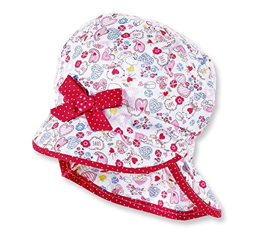 Sterntaler Baby Sommermütze mit Nackenschutz UV-Schutz 30+, Größe:43;Farbe:paprikarot (806)