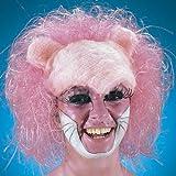 Panter Panther Perücke pink rosa für Erwachsene Raubkatze Tier Tierperücke