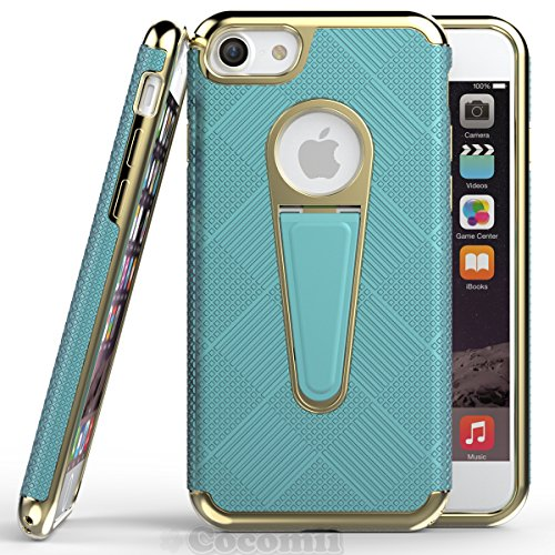 iPhone 8 / iPhone 7 Coque, Cocomii Angel Armor NEW [Heavy Duty] Premium Tactical Grip Kickstand Shockproof Hard Bumper Shell [Military Defender] Full Body Dual Layer Rugged Cover Case Étui Housse Appl Tiffany Blue