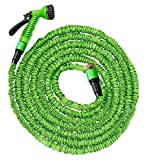 100FT | GARDEN HOSE PIPE | SUPER LIGHT WEIGHT HOSE PIPE | 7 SETTING SPRAY NATURAL TRIPLE LAYER LATEX | EXPANDING HOSE UPTO 30 METERS (100FT) | MAGIC HOSE 1 YEAR FREE REPLACEMENT WARRANTY! (100FT)