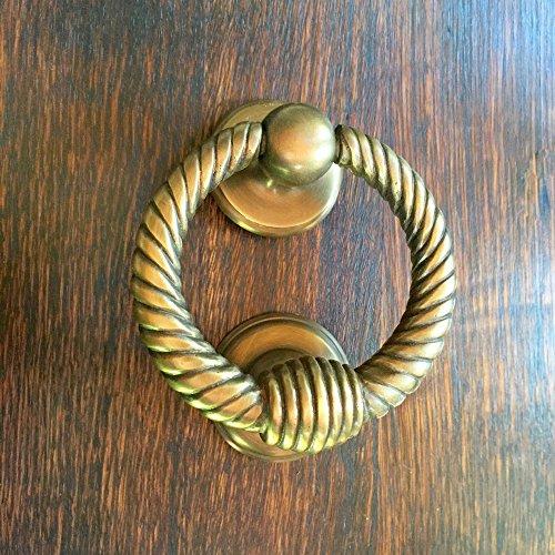Antikas - Türklopfer Antik Messing - massiver Klopfer Ring - PZ Beschläge Haustüren