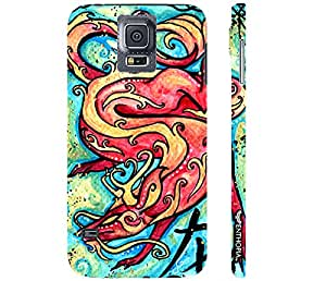 Samsung Galaxy S5 CHINESE ZODIAC DRAGON designer mobile hard shell case by Enthopia