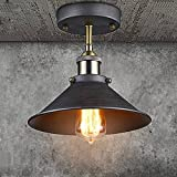 CLAXY Lampe de Plafond Plafonnier Vintage Luminaire Intérieur Suspension Métal pour Maison Hotel Restaurant Salle à Manger Cuisine Diamètre de Abat-jour 26CM