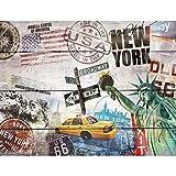 Fototapeten Holzoptik New York 352 x 250 cm - Vlies