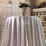 "yzeo 50""redondo lentejuelas mantel para boda/mesa de fiesta Overlay, materiales sintéticos, metalizado, 50""/127 cm"