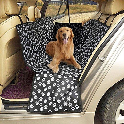 Cane coprisedile coprisedili per auto, per cani, resistente e impermeabile, lavabile in lavatrice, cane amaca da viaggio con cintura di sicurezza, taglia universale per tutte le auto camion SUV (nero)