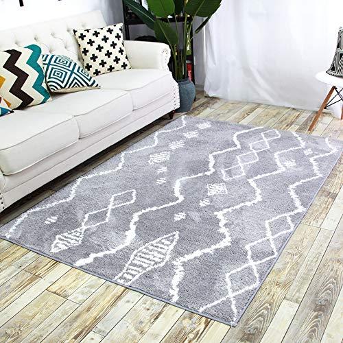 PKQ® Teppich Cozy Contemporary Living Teppiche Einfacher Stil Pastellfarben Kurze Gerade Flor Rug Wohnzimmer Schlafzimmer Weiche Shaggy Bereich Teppiche Heimtextilien Größen (140 x 200 cm),B