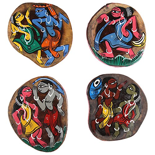 ananth-crafts-hand-painted-wooden-4-piece-unique-coasters