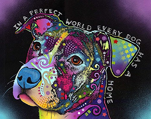 The Picture Peddler Inc. in A Perfect World Dean Russo Modernes Tier Hund Motivational (Wählen Sie Größe der Leinwand) 8x10 Print -