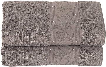 RANGOLI 100% Cotton Towel Terry Pile-Set of 2 Pieces (Grey)