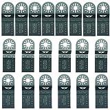 20 x TopsTools UNKC20 Mix Lames pour Bosch, Fein Multimaster, Multitalent, Makita, Milwaukee, Einhell, Ergotools, Hitachi, Parkside, Ryobi, Worx, Workzone Outil multi outil accessoires