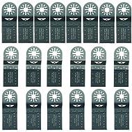 20 x TopsTools UNKC20 Mix Klingen für Bosch, Fein Multimaster, Multitalent, Makita, Milwaukee, Einhell, Ergotools, Hitachi, Parkside, Ryobi, Worx, Workzone Multitool Multi Tool Multifunktionswerkzeug Oszillierwerkzeug Zubehör