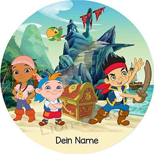 Tortenaufleger Jake und die Nimmerland Piraten1 mit Wunschname