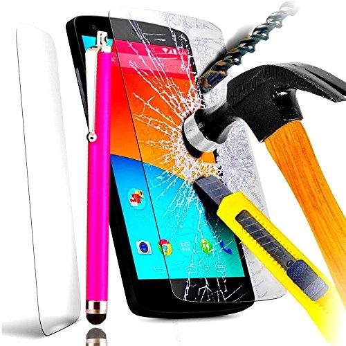Access-Discount - Asus ZenFone 2 ZE551ML - ZE550ML 5,5'' filtre protecteur d'écran INVISIBLE & INRAYABLE vitre SOLIDE pour Smartphone 3G 4G ZenFone 2 + STYLET COULEUR ROSE