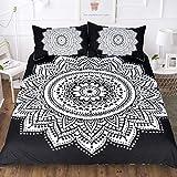ymtter Mandala Bettwäsche Bettbezug-Set 3,3D-Druck Nicht verblasst Schlafzimmer,Dusk,King 140 * 200cm