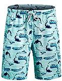 APTRO Badehose Herren Freizeit Short Urlaub Short Schnelltrocknend Badeshorts Hai BS008 L