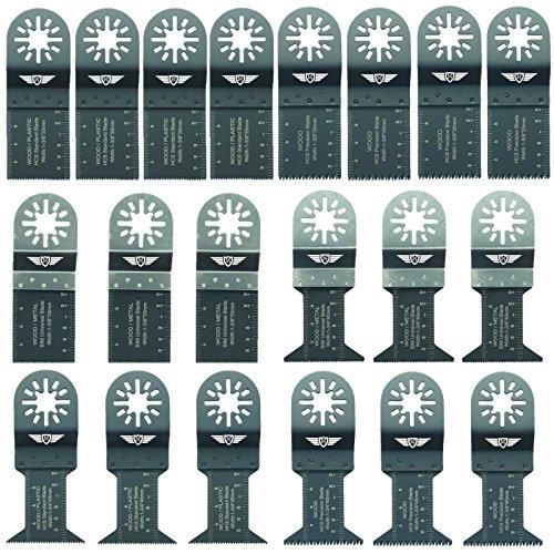 20 x TopsTools UNK20 Mix Klingen für Bosch, Fein Multimaster, Multitalent, Makita, Milwaukee, Einhell, Ergotools, Hitachi, Parkside, Ryobi, Worx, Workzone Multitool Multi Tool Multifunktionswerkzeug Oszillierwerkzeug Zubehör