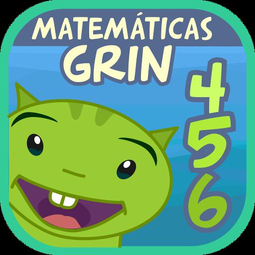 Matemáticas con Grin 456 números, sumar, restar