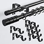 Sumnacon Double Pipe Curtain Drapery Rod Bracket Holders for 1 and 5/8 Inch Rods, Extendable Wall-Mounted Metal Single...