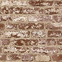 Real Looking Stuccoed Red Brick Wallpaper by York by York