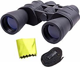 Jm Bushnell Waterproof 10-70x50 Zoom 10-70X Prism Binocular Monocular Telescope with Pouch Hard Rubber Black Color 1 Piece -61