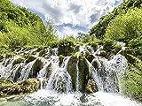 Artland Qualitätsbilder I Wandtattoo Wandsticker Wandaufkleber 80 x 60 cm Landschaften Gewässer Wasserfall Foto Grün B5VR Wasserkaskaden