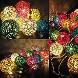 Mezclado pelota de ratán de color LED luz de hadas cadena de 10 metros para la Navidad, la boda y la decoración