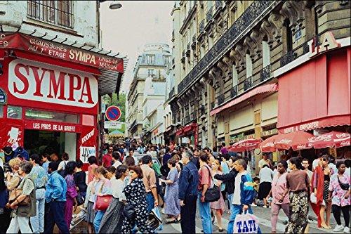 673071 Shopping Street Paris France A4 Photo Poster Print 10x8