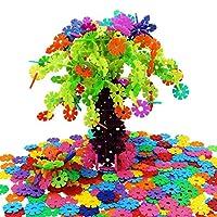 zedtom mit 500Stück Schneeflocke Kunststoff Spiel Bau-Puzzles Spiele Lernspiel für Kinder