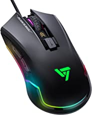 VicTsing Pro Gaming Mouse Wired, 16.8 Million Chroma RGB Backlit, 7250 DPI Optical Sensor, 6 Programmable Buttons Computer US