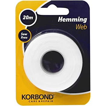 H781.25 19mm Hemline Fusible Iron On Hemming Web Tape for Hems 25m  White