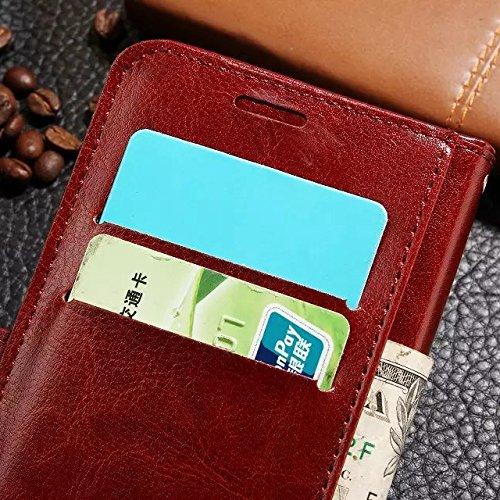 Wkae Case Cover BBK X7 Xplay5 Fall feste Folio magnetische Design Flip Brieftasche Stil Fall Farbmuster PU-Leder-Abdeckung Standup-Abdeckungsfall für BBK X7 Xplay5 ( Color : Blue , Size : BBK X7 Xplay Black