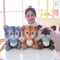 WIN86haib 20cm Cartoon Sitting Cat Plush Toy Soft Stuffed Animal Doll Sleeping Pillow