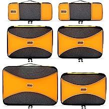 PRO Packing Cubes   Packwürfel im 6-teiligen Sparset   Taschen mit 30 % Platzeinsparung   Ultra-leichte Gepäckverstauer   Ideal für Seesäcke, Handgepäck und Rucksäcke