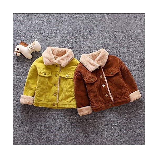 Abrigos Bebe Invierno Niños Bebé Niñas Niños Invierno Abrigo Sólido Capa Chaqueta Grueso Cálido Ropa de Abrigo Abrigo… 2