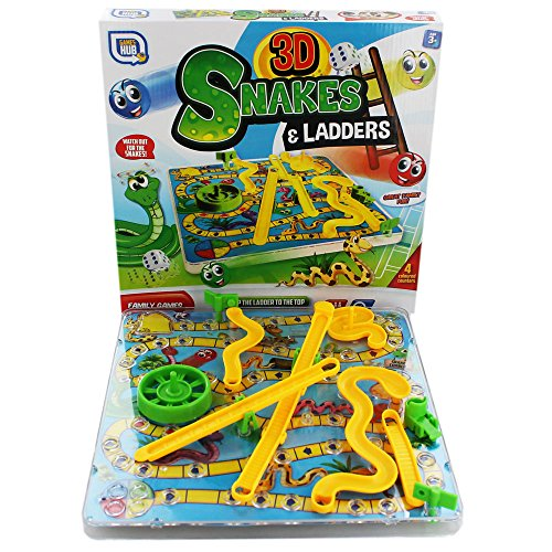 Grafix 3D Snakes And Ladders Game - Snakes Ladders