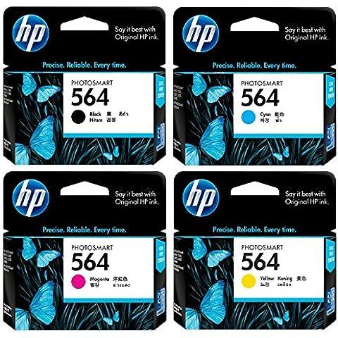 564 HP-Cartucce d'inchiostro, confezione da 4, colore: nero, Ciano, Magenta,