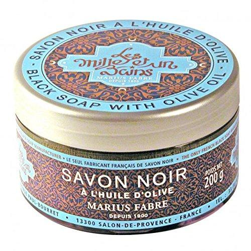 Savonnerie & Cie - Savon Noir 200 Gr à L'Huile D'Olive Dans Une Boite 1001 Bains