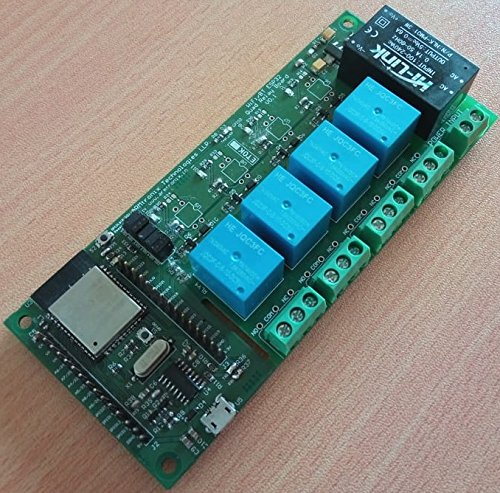 ARMtronix WiFi Bluetooth ESP32 Four Relay Board Based on NodeMCU LUA for  IoT and Home Automation