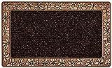 CarFashion 257223 PUR|UrbanClean – Fussmatte| Türmatte| Fußabtreter | Schmutzfangmatte | Sauberlaufmatte | Eingangsmatte| für Innen und Aussen | Standard-Bronce-Metallic Oberfläche | Scraper-Noppen mit robustem Textilbelag | Größe ca. 75 x 45 cm