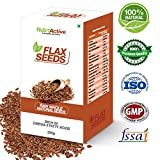 #3: NutroActive Raw Whole Natural Brown Flax(Alsi) Seeds 250 gm